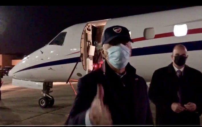 Joe Biden leaving airport