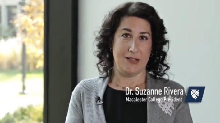 Macalester College President Suzanne Rivera