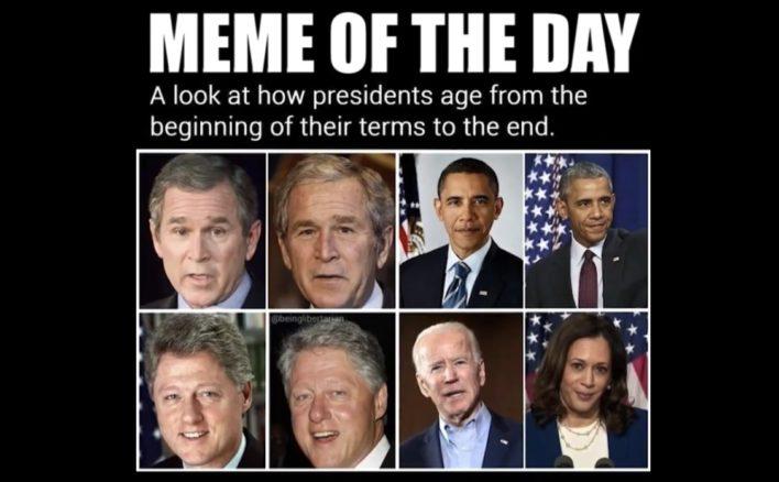 meme of how presidents age