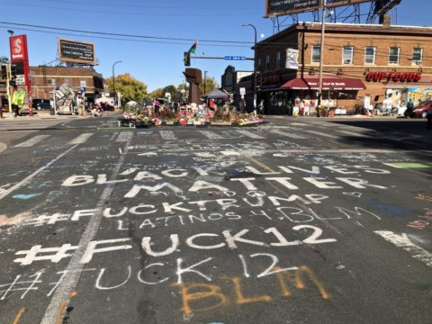 George Floyd Zone anti-police messages