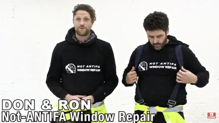 Ryan Long Not-Antifa Window Repair