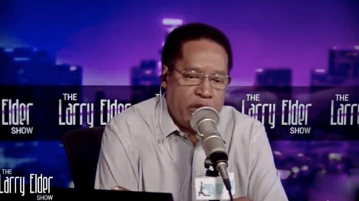 Larry Elder doing his radio show